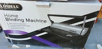 Lowell Home Binding Machine Used up to 125 pages 21 Holes Comb 6mm-14mm