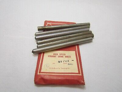 """27/64"""" Jobbers Length Drill Blank 5-3/8"""" Overall Length Bright Finish Lot of 6"""