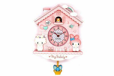 Wall Clock Cuckoo Mouse Bunny Pendulum Nursery Girl Room Home Decor Bedroom Pink