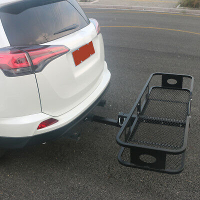Cargo Carrier Folding Luggage Basket tray Receiver Hitch Black 500lbs