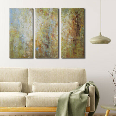 Modern Home Decor Abstract Wall Art 3 Piece Framed Large Oil Painting 32x48inche