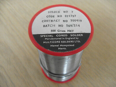 Multicore Solder Wire 60/40 1.22mm 1.2mm 500g Multicore Ersin 362
