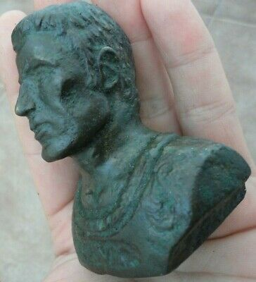 Ancient Roman Bronze Figurine statue Brutus he leading the assassination Caesar