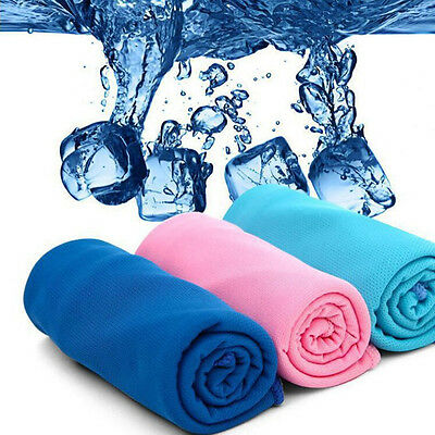 1X Ice Cold Enduring Running Jogging Gym Chilly Pad Instant Cooling Towel Sports