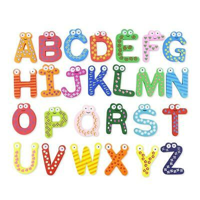 Wood Cute Fridge Magnet Alphabet Animal Number Early Educational Baby Toy