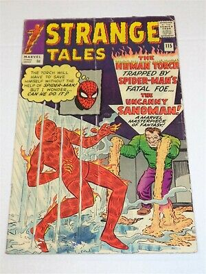 Strange Tales #115 Marvel Comics Dr Strange Origin December 1963 Vg- (3.5)**