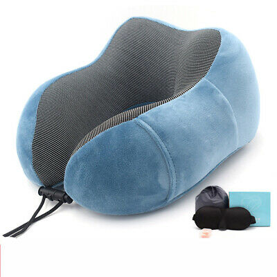 U Shaped Travel Neck Support Memory Foam Pillow Head Cushion Rest Airplane Car