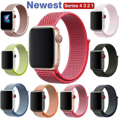 For Apple Watch Series 4/3/2/1 Nylon Sport Loop iWatch Band Strap 38/40/42/44mm