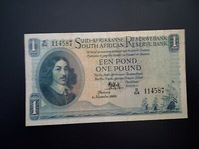 Banknote Sth Africa 1950 (vf)1 pound.