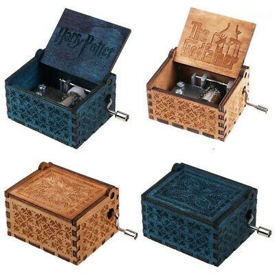 Wooden Music Box Harry Potter Game of Thrones Beauty and the Beast Engraved Gift