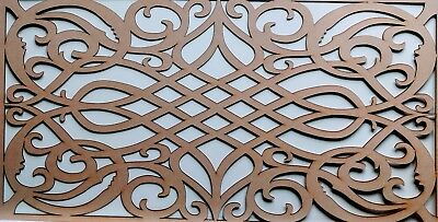 Radiator wall Cabinet Decorative Screening Perforated 3mm & 6mm thick MDFlaserG4