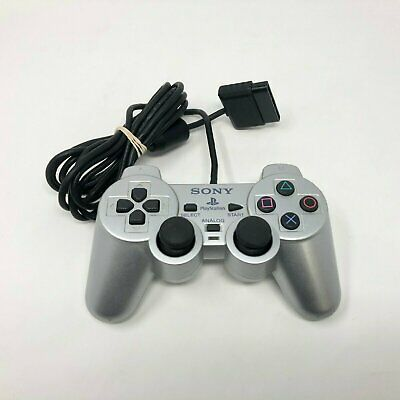 Official Playstation 2 PS2 Dualshock Controller Satin Silver OEM