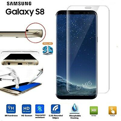 Screen Protector For SAMSUNG Galaxy S8 TEMPERED GLASS Cover - 100%