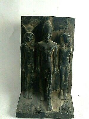 RARE ANCIENT EGYPTIAN ANTIQUE ISIS and OSIRIS and NEPHTHYS Statue 1561-1328 BC