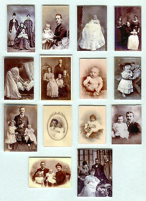 Set Of Hand-Made Dolls' House 1/12Th Scale Victorian Christening Photographs