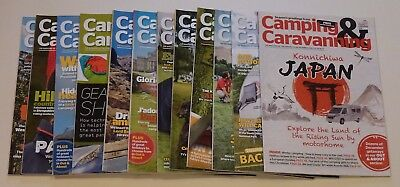 Camping & Caravanning Club Magazines 2016 Full Year 12 Issues Vg Excellent