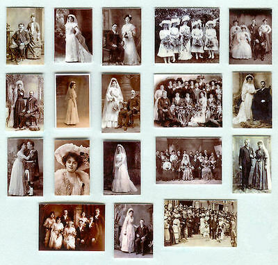 Set Of Hand-Made Dolls' House 1/12Th Scale Victorian Wedding Photographs