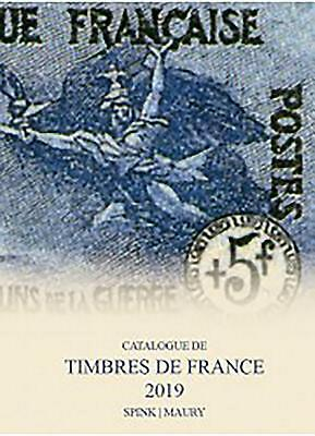 Spink Maury Catalogue De Timbres De France 2019 Hardcover Book Free Shipping!