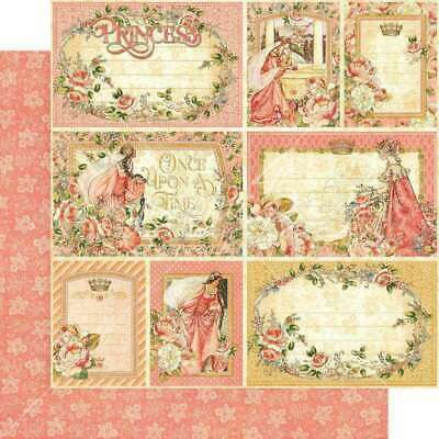 "Graphic 45 Princess Double-Sided Cardstock 12""X12""-Your Highness"
