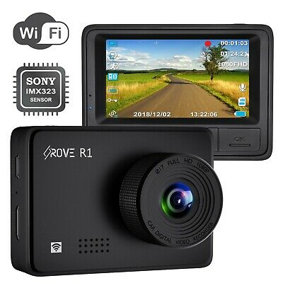 Rove R1 Dash Cam 1080P Sony IMX323 Sensor Wi-Fi Car Dashboard Camera 2.45 IPS