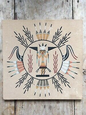 Navajo Native American Indian  Sand painting Art Healing Ceremony Signed