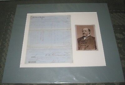 Original 1867 Boss Tweed Signed Document - As Nyc Deputy Street Commissioner