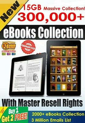 300,000+ eBooks,PLR Articles Collection with Master Resell Right PDF with Bonus