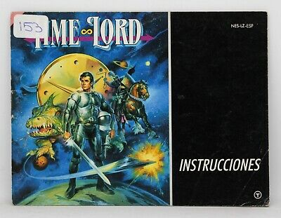 Manual Time Lord - Nintendo Nes - Pal España - Timelord