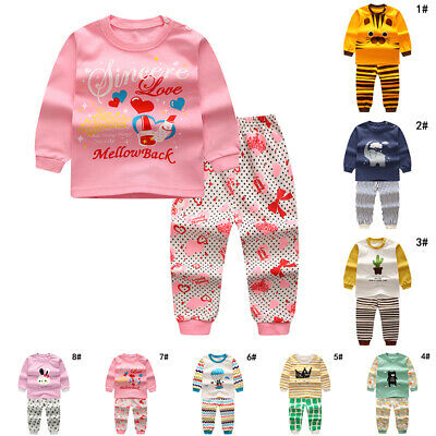 Cute Sleepwear Outfits & Sets Kid Pajamas Cotton Animals Child Boy Girl Kids