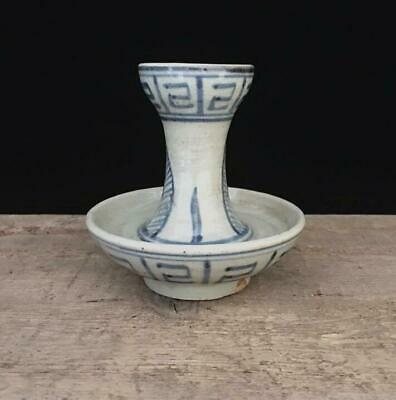 China old Qing Dynasty Guangxu Blue and white porcelain Oil lamps