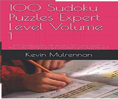 100 Killer Sudoku Puzzles Expert Level Volume 1 100 puzzles and answers New Book