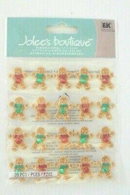 Jolees Boutique Christmas Ginger Bread Repeats Scrap Booking Stickers