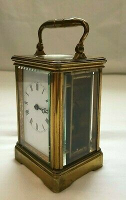 Antique Drocourt of Paris - French Peitite Carriage Clock -  Number 13199 -Brass
