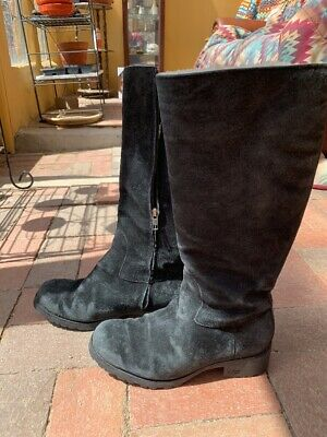 9d4dc8ef409 UGG LEATHER FLEECE Lined Boots - Size 7.5 - $35.00 | PicClick