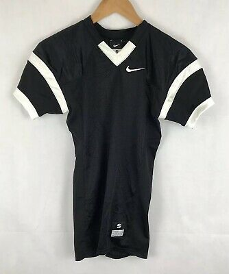 Nike American Football Jersey Shirt Black White Sz Small Tight Fit Mens