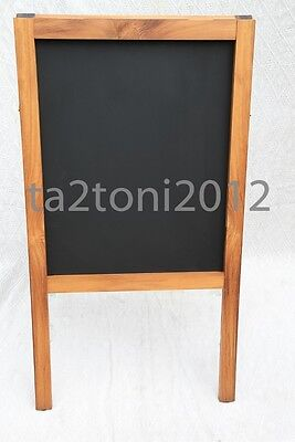 A Board Iroko Hardwood Pavement Display Frame Blackboard Advertisment Chalkboard