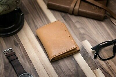 Texan Bull Men's RFID Blocking Premium Leather Classic Trifold Wallet