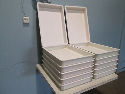 """Normandie"" Lot Of (12) Hd Commercial Abs Plastic Bakery/Dough Proofing Pans"