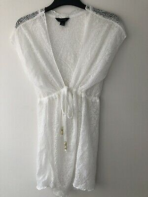 2f0647ccb0 PRIMARK ATMOSPHERE WHITE Beach Paisley Mini Cover Up Size Small ...