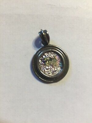 ANCIENT ROMAN GLASS set in a sterling silver Pendant.  Hand Made.  Jerusalem.