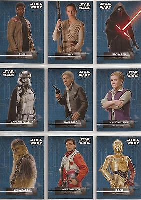 Star Wars - The Force Awakens Series 2 - Character Stickers-Set von Topps 2016