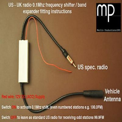 US FM radio band expander / frequency shifter / American to UK convertor 0.1Mhz