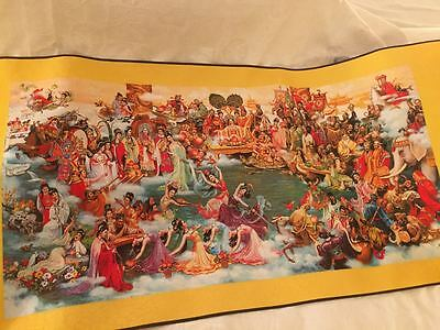 LARGE Beautiful CHINESE silk wall hanging with CHINESE GODS AND LEGENDS