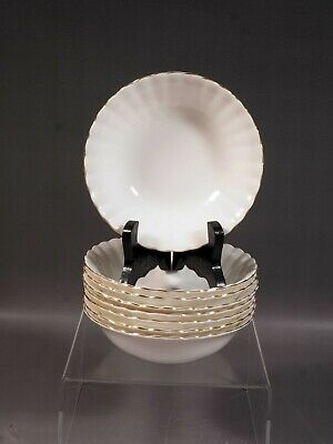Royal Albert Val D'Or Fruit Bowl(s) Nappy gold white Vintage Bone China England