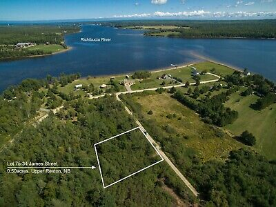 Nice sized Lot with easy Access to Richibucto River - New Brunswick, Canada