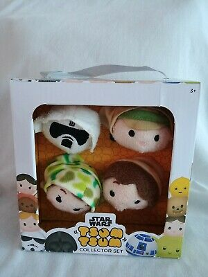 NEW - Star Wars Disney Tsum Tsum Collector Set  Luke, Leia, Solo, Scout