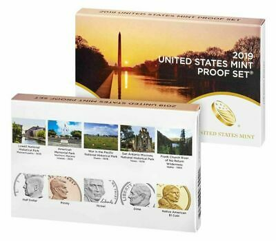 4 each 2019-S Proof Set US Mint BOXs and COAs - No coins