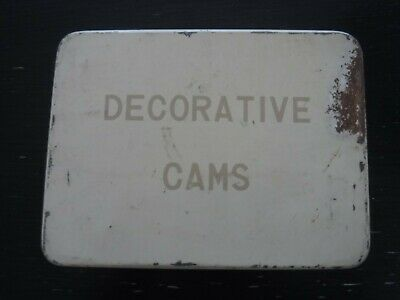 Vintage Tin Storage Box, Decorative Cams Storage Tin, Sewing Cams Storage Box, M