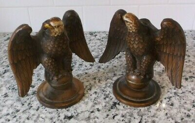 Vintage  Pair Of Federal Eagle Candle Holders