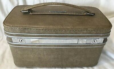 Vintage Samsonite Fashionaire Cosmetic Makeup Train Travel Hard Case Carry On